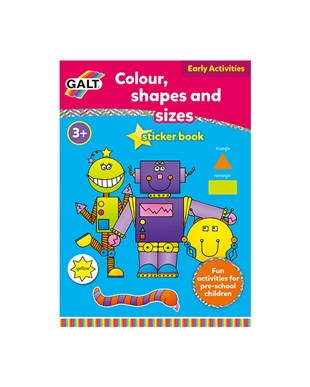 Galt Colour Shapes And Sizes Book +3 Yaş