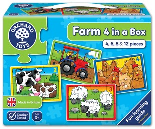 Orchard Farm Four In A Box ( Çiftlik 4 Puzzle Bir Arada )